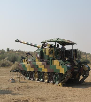 130 mm SP Vijayanta Catapult