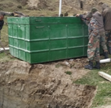 Installation of Biotoilets at different high altitude Army locations in and around Tawang, Arunachal Pradesh